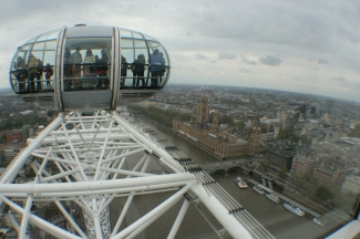 London Eye - up high